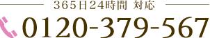 365日24時間対応 0120-379-567